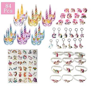 Amazon.com: Paquete de 84 paquetes de regalos de unicornio ...
