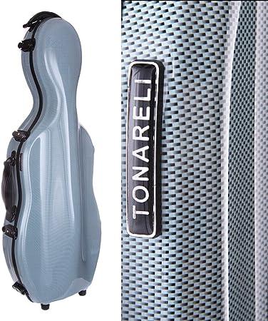 Tonareli cello-shaped Fibra de vidrio viola funda w/ruedas – Edición Especial Azul Grafito vaf1014: Amazon.es: Instrumentos musicales