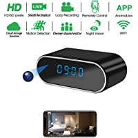 Spy hidden HD real-time camera clock WiFi wireless network cloud storage camera, with automatic night vision function…