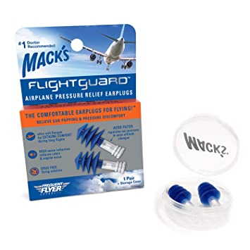 .com: mack's flightguard airplane pressure relief earplugs ...