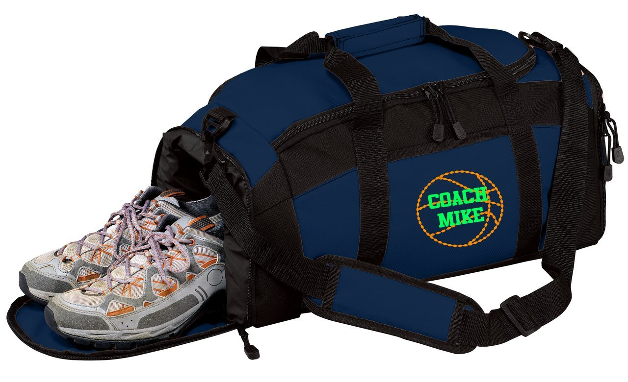 all about me company Personalized Basketball Gym Sports Duffel Bag Hunter