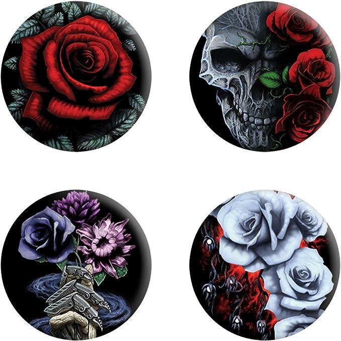 Requiem Collective - Pack de chapas modelo Cardinal Rose (Tamaño Único) (Negro): Amazon.es: Ropa y accesorios