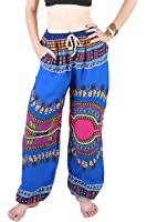Boho Genie Hippie Aladdin Beach Baggy Gypsy Yoga Harem Pants Trousers African Dashiki Blue