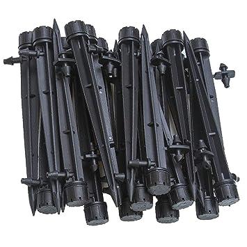 Bewässerung Steckverbinder For 4//7mm Hose 100pc 1//4 Doppel Weg Zubehör