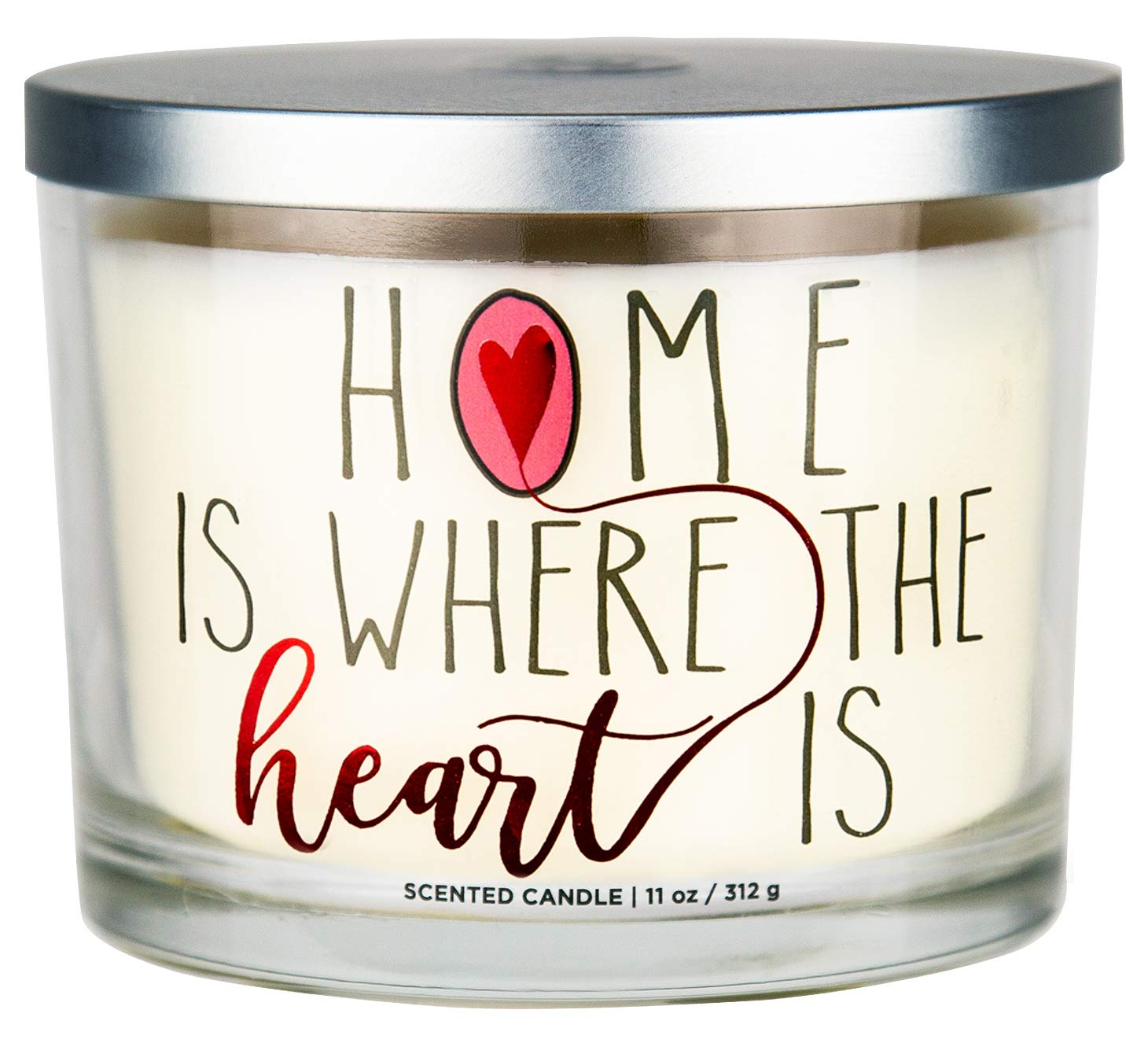 "Aromascape ""Home is Where the Heart Is"" 3-Wick Scented Candle (Brown Sugar Pecan, Cinnamon Bark, and Nutmeg), 11-Ounce"