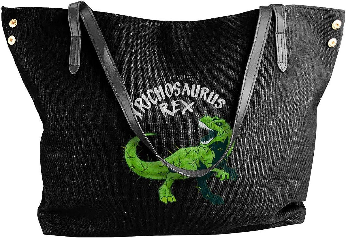 TrichosaurusRex Womens Tote Bags Canvas Shoulder Bag Casual Handbags