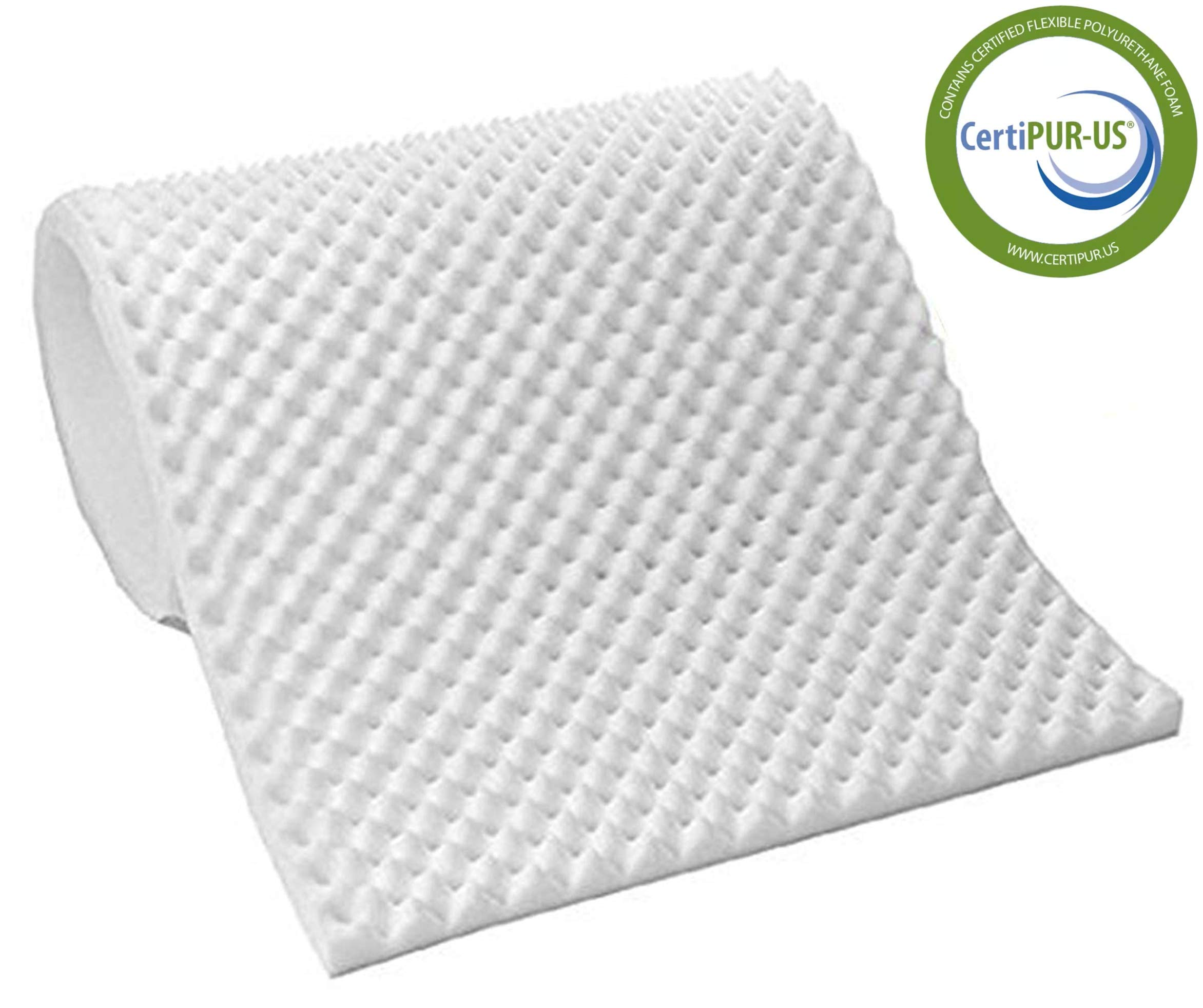 Vaunn Medical Egg Crate Convoluted Foam Mattress Pad - 3'' Thick EggCrate Mattress Topper (Hospital Bed Twin Size) by Vaunn