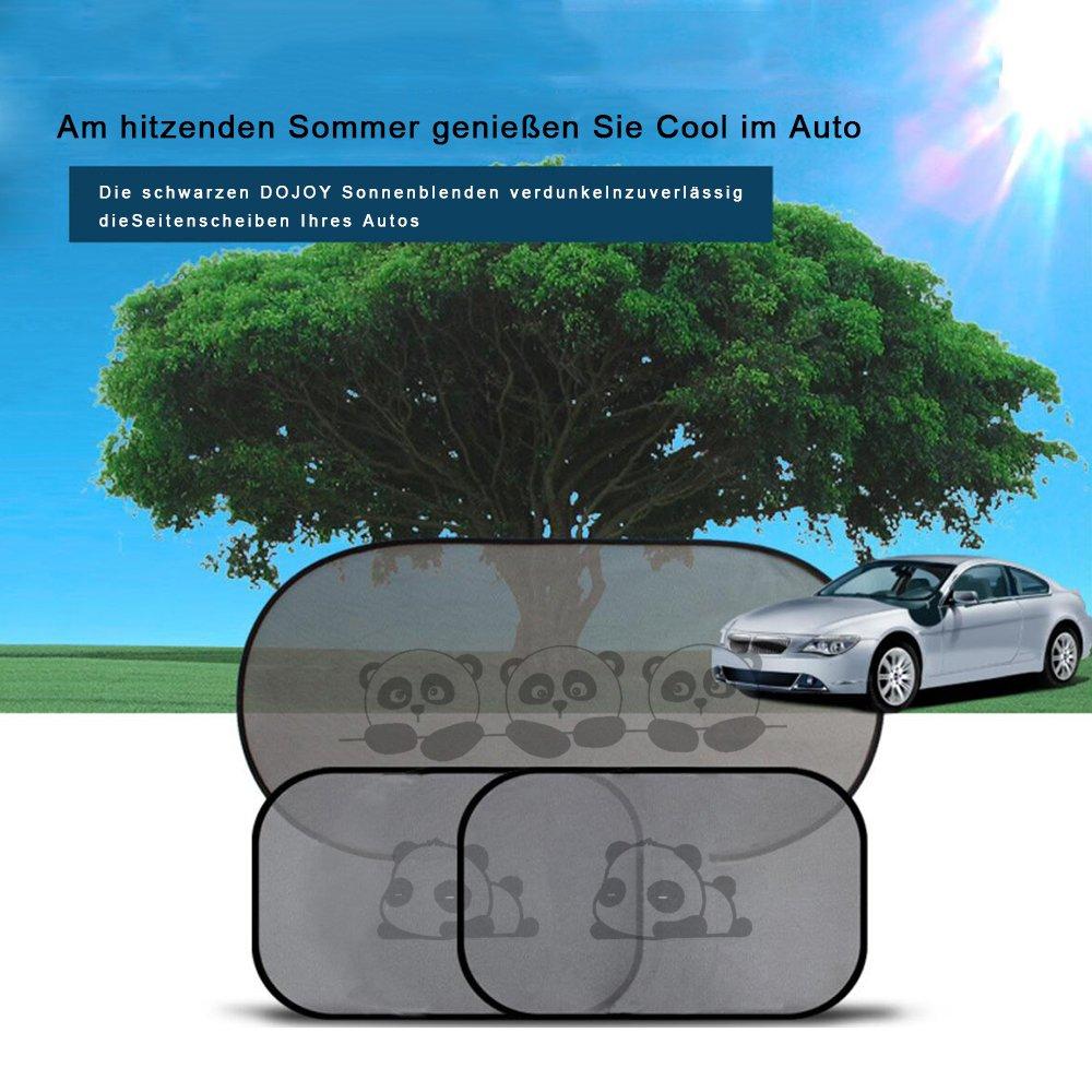 Protección contra el sol para coche, Panda DOJOY, antiadherente, parasol para ventanas laterales, protección contra rayos UV dañinos, bebé, niños, ...