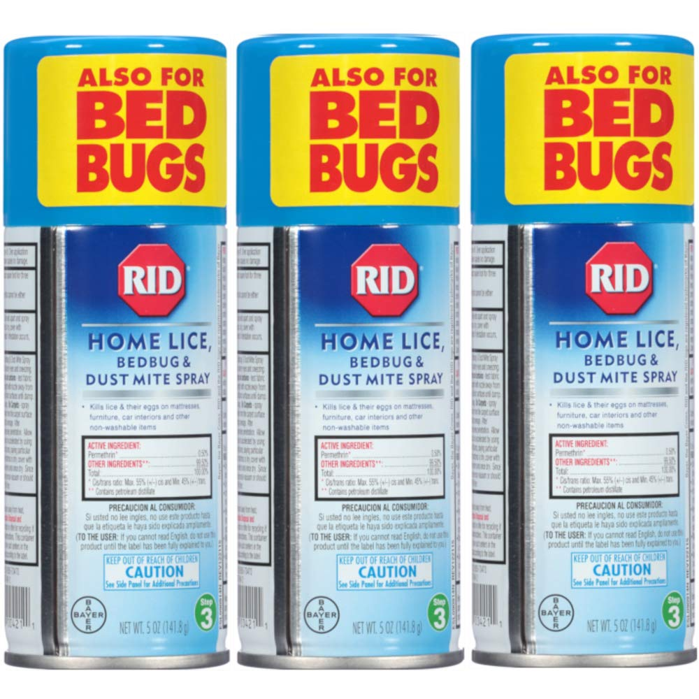 Rid Home Lice, Bedbug And Dust Mite Spray - 5 Ounces (Value Pack of 3) by Marble Medical