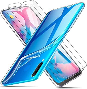 AROYI Funda + 2 X Protector de Pantalla para Samsung Galaxy M30 ...