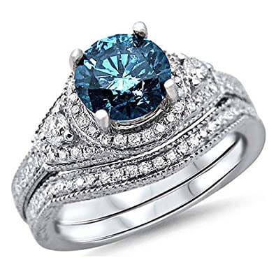 Amazon.com: Romántico Fate Anillo Gemstone Studded Zircon ...