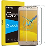 [2 Pack] Moto G5 Screen Protector, [NOT Fit Moto G5S ] SPARIN Tempered Glass [Bubble-Easy Installation] Screen Protector for Lenovo Moto G5 With [Lifetime Warranty]