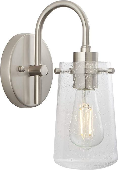Avezzana Hallway Wall Sconce Brushed Nickel Bathroom Vanity Light With Led Bulb Ll Wl661 1bn Amazon Com