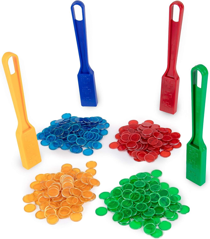 Fast Pick Up Markers Magnetic Bingo Wand /& 100 Metal Ring Bingo ChipsEasy