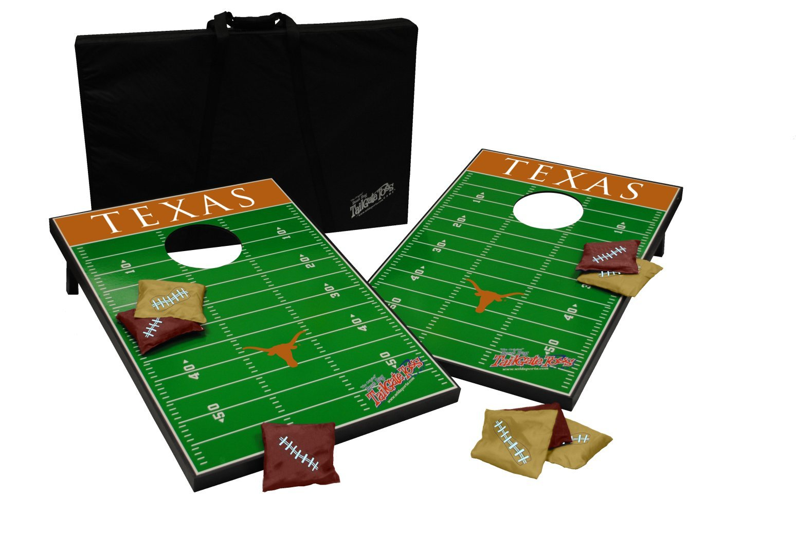 Wild Sports NCAA Tailgate Toss Cornhole Set, Texas Longhorns