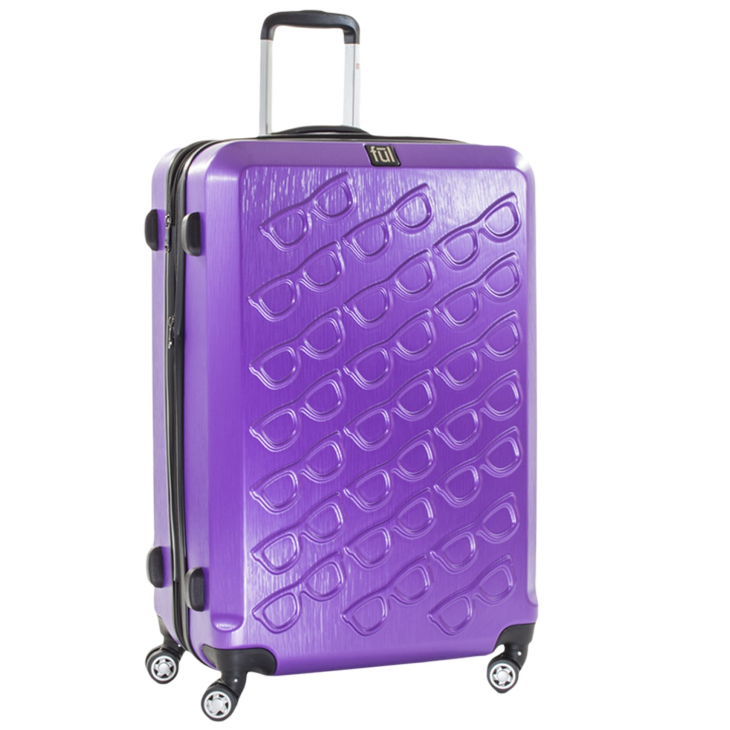 Ful Sunglasses 29in Spinner Rolling Luggage Suitcase Suitcase, Purple