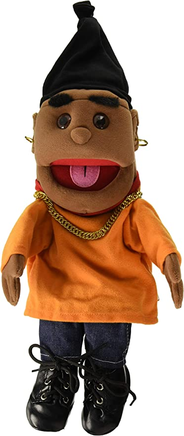 """Sunny Toys 14/"""" Ethnic Yarn Haired Girl In Orange Top Glove Puppet"""