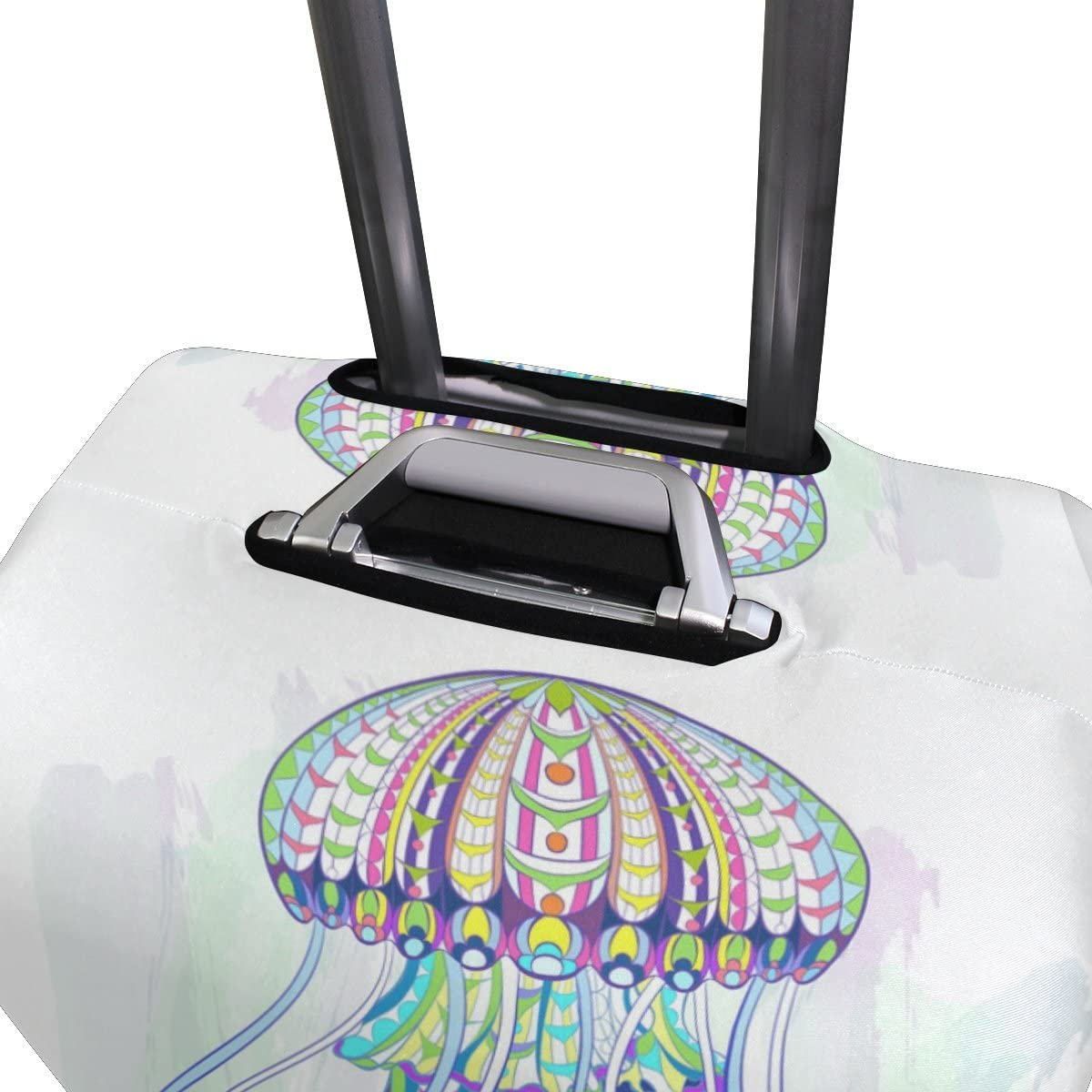 OREZI 3D Jellyfish Dancing Luggage Protector Suitcase Cover 18-32 Inch