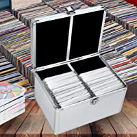 240 Discs Aluminium CD DVD Cases Bluray Lock Storage Box Organizer Free Inserts 240 Discs
