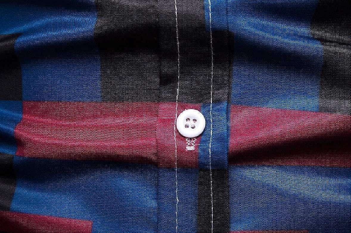 Zimaes-Men Plus Size Skinny Business Premium Button Down Shirt