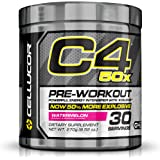 Cellucor C4 50x High Energy Pre Workout Supplement, Watermelon, 30 Count