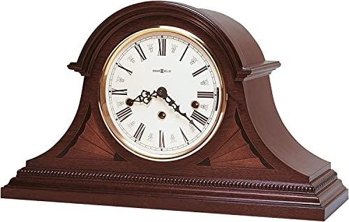 Howard Miller Downing Mantel Clock 613-192 – Rich Copley Mahogany, Mechanical Key Wound Triple Chime Movement