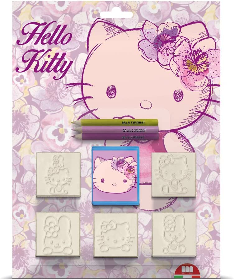 Hello Kitty Multiprint Noris 631 5803, 5-Piece Stamp Set 5 Stamps