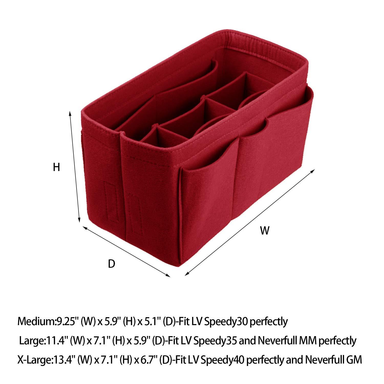 Felt(3MM) Fabric Purse Organizer Insert for Purse Handbag Tote Bag, 3 Sizes, 8 Colors by ETTP (Image #2)