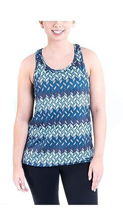 c0938b88edd17 TEMA Athletics Women s Printed Bungee Activewear Yoga Workout Tank Top Gym  Running Hiking Walk (XS