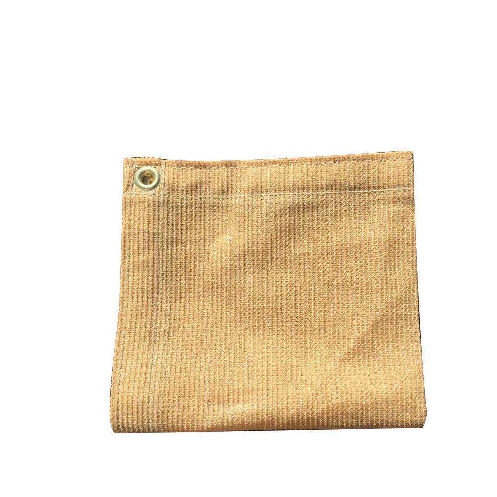 XTARPS - 10 ft. x 20 ft. - 7 OZ Premium 90% Shade Cloth, Shade Sail, Sun Shade (TAN Color)