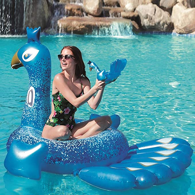 Amazon.com: LIJUEZL Flotador hinchable gigante para piscina ...