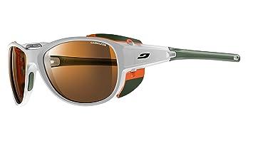 b283566d4977c3 Julbo Unisex s Explorer 2.0 Sunglass, White Orange, One Size  Amazon ...
