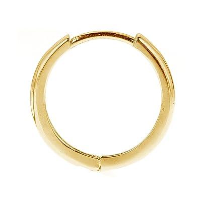 Amazon Com Men S Unisex 14k Real Yellow Gold Huggie Hoop Single
