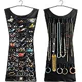 Trendy Little Black Dress Hanging Jewelry two-sided organizer hangs