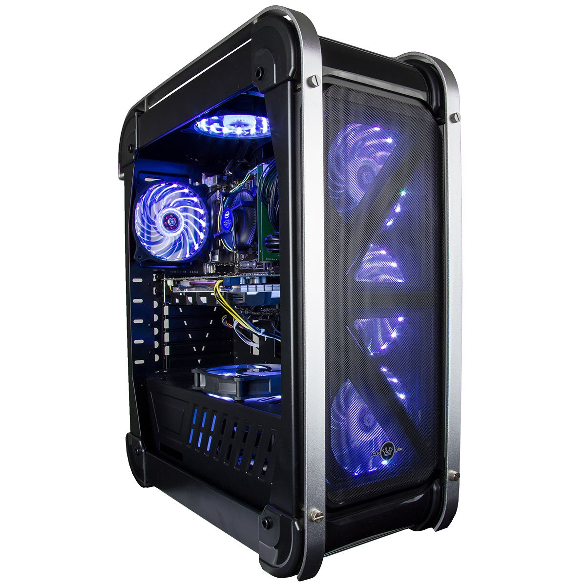 CUK Switch 77 - Gamer VR Ready Desktop (Intel Core i7-7700, 16GB RAM DDR4, 256GB Nytro SSD + 2TB HDD, NVIDIA GTX 1080 8GB, 400W PSU) Best Windows 10 Gaming Computer PC - Black by Computer Upgrade King (Image #2)