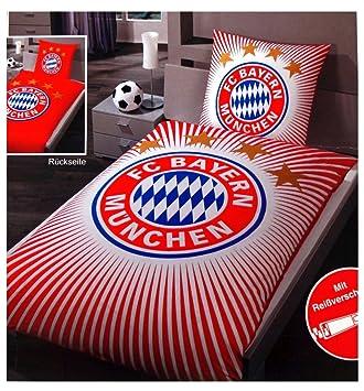 Fc Bayern München Wende Bettwäsche übergröße 155 X 220 Cm Amazonde