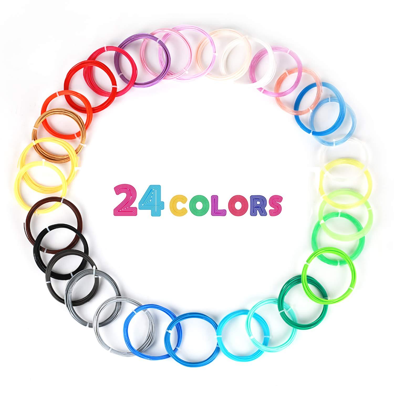 3D Stift Filament 24 Farben 3M PLA Filament 1.75mm 3d stifte farben fürvon MKOEM (Filament-24)