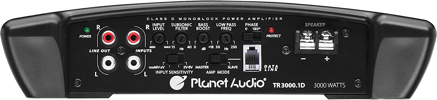Great for Subwoofers Planet Audio TR4000.1D Class D Car Amplifier Digital 1 Ohm Stable 4000 Watts Monoblock Mosfet Power Supply