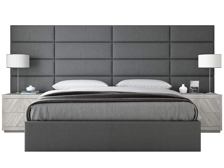 Vantヘッドボード布張り – アクセント壁パネル – 4 – 色の選択肢のパック – 5テクスチャタイプ – 39インチまたは30