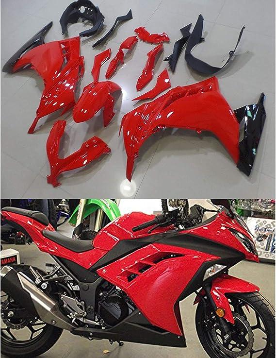 ABS Plastic Injection Bodywork Fairings Kit Fit for Kawasaki Ninja 300 EX300R ZX300R 2013 2014 2015 2016 Orange Black