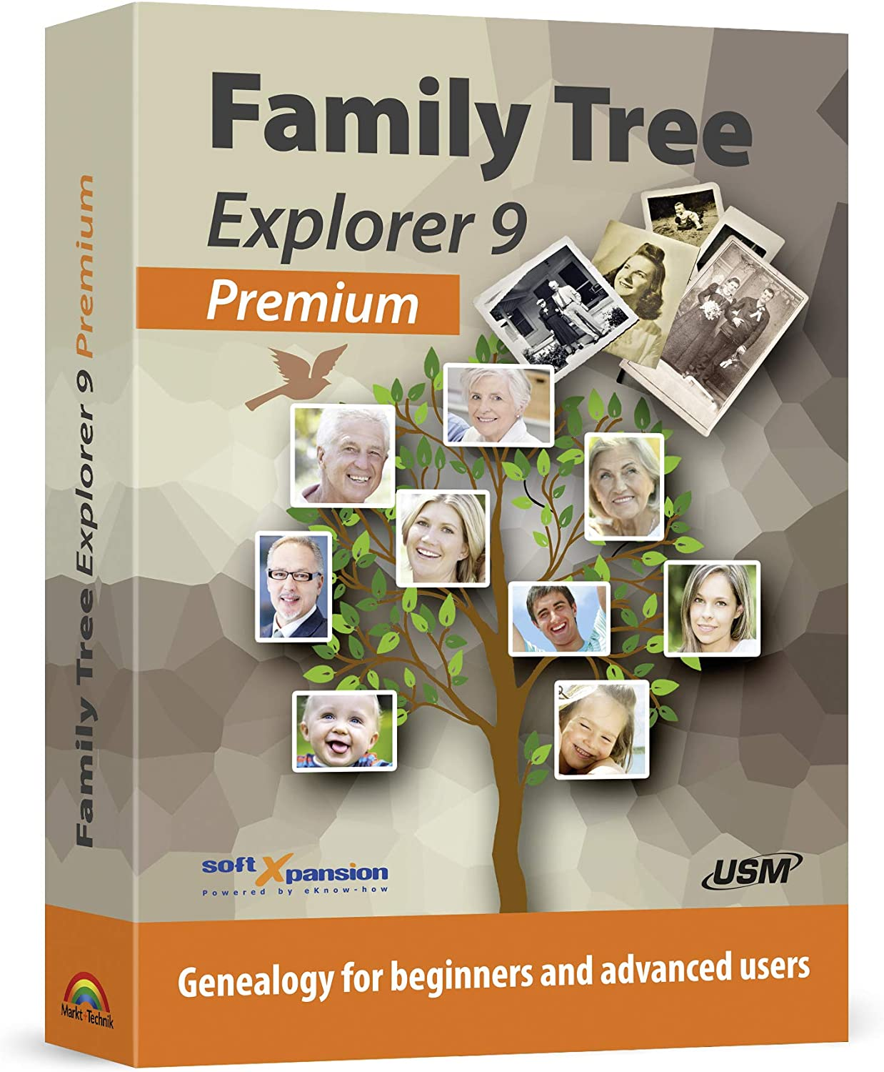 Family Tree Explorer 9 PREMIUM - Genealogy software and family tree maker for Windows 10, 8.1, 7 - compatible with the international GEDCOM format 71o2Bt5zTBcL