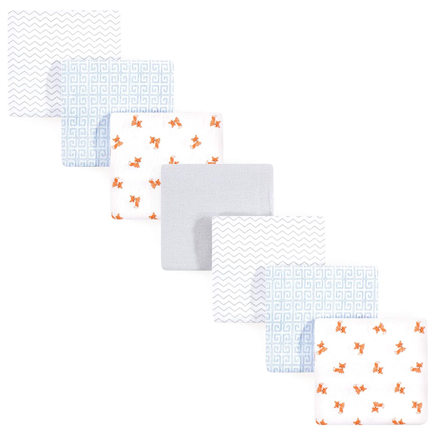 Luvable Friends Unisex Baby Flannel Receiving Blankets 7-Pack One Size Wild and Free