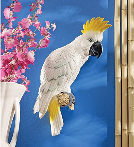 Design Toscano QL119618 Citron Cockatoo Bird Tropical Decor Wall Sculpture