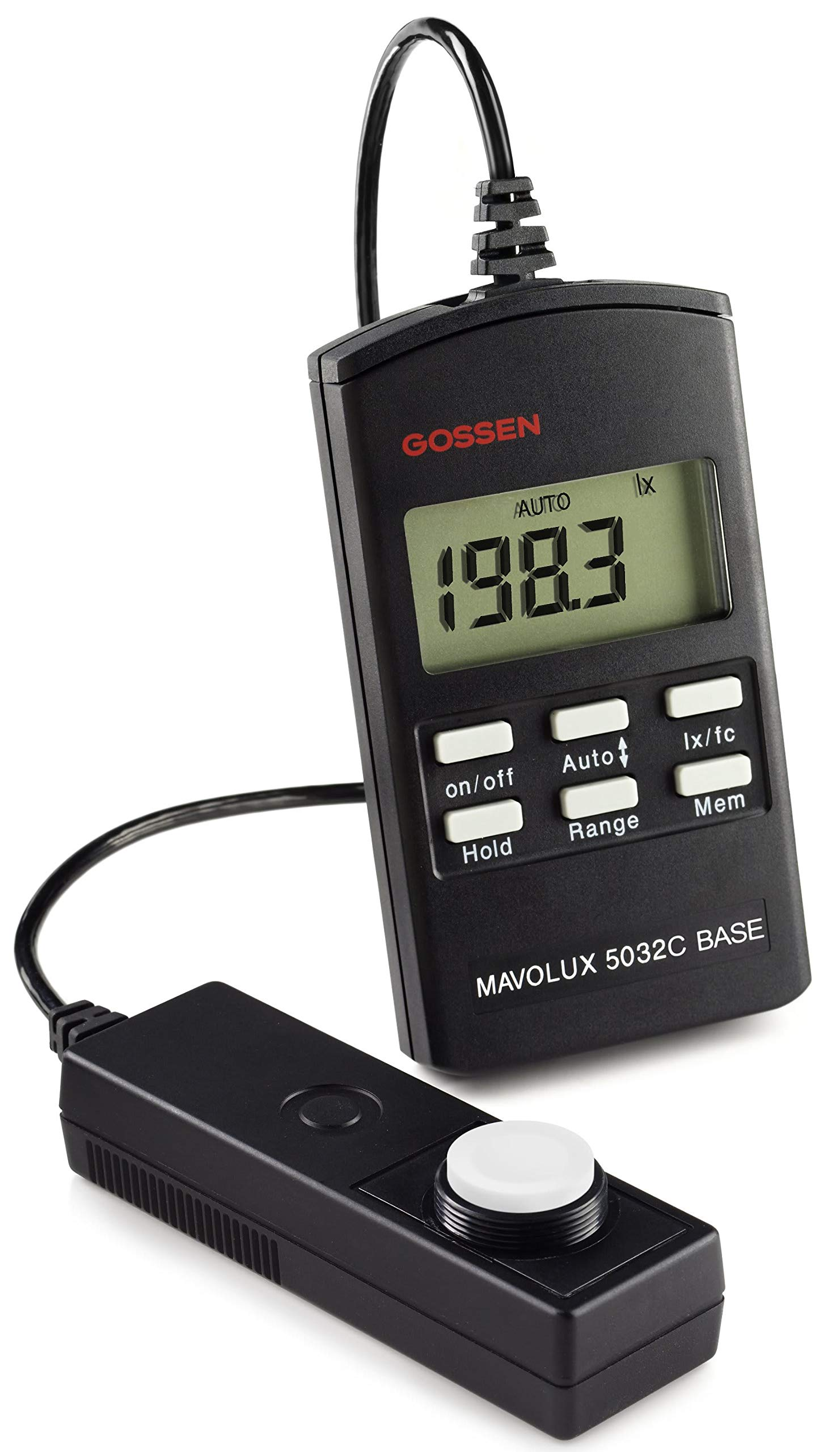 Gossen M502B Mavolux 5032C Digital Footcandle and Lux Meter