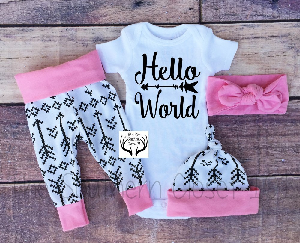 896fa70d186 Amazon.com  Baby Girl Coming Home Outfit