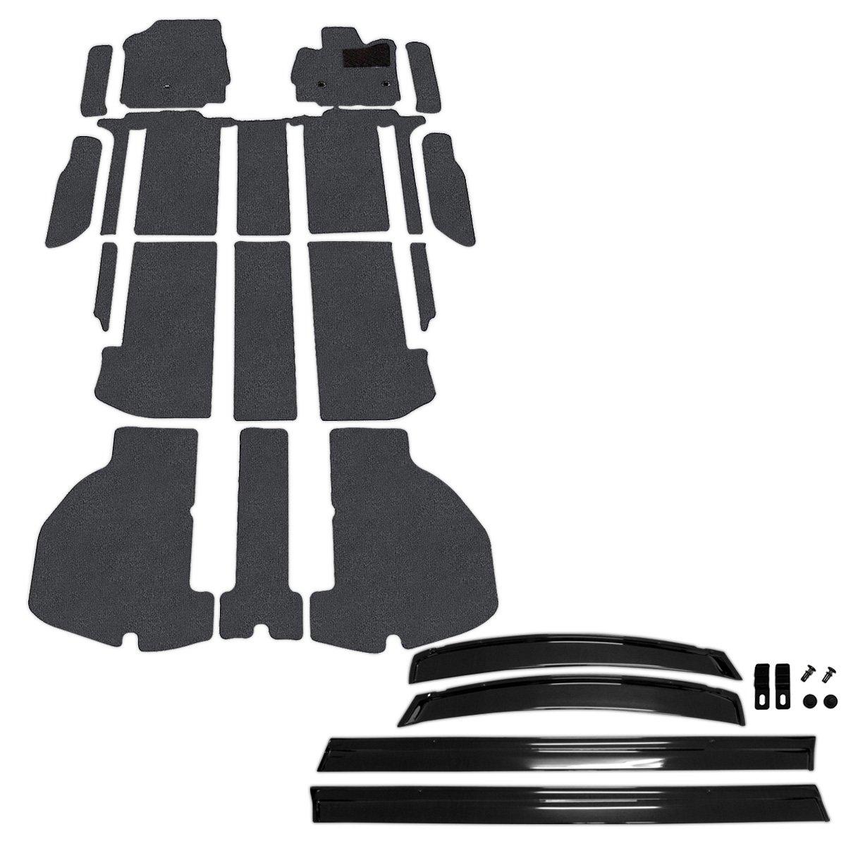 D.Iプランニング カー用品 フロアマット & ステップマット & サイドバイザー セット 型番3 【 トヨタ アルファード 30系 】 車用 カーマット DXグレー B00YM1MZDS 型番3|DXグレー DXグレー 型番3
