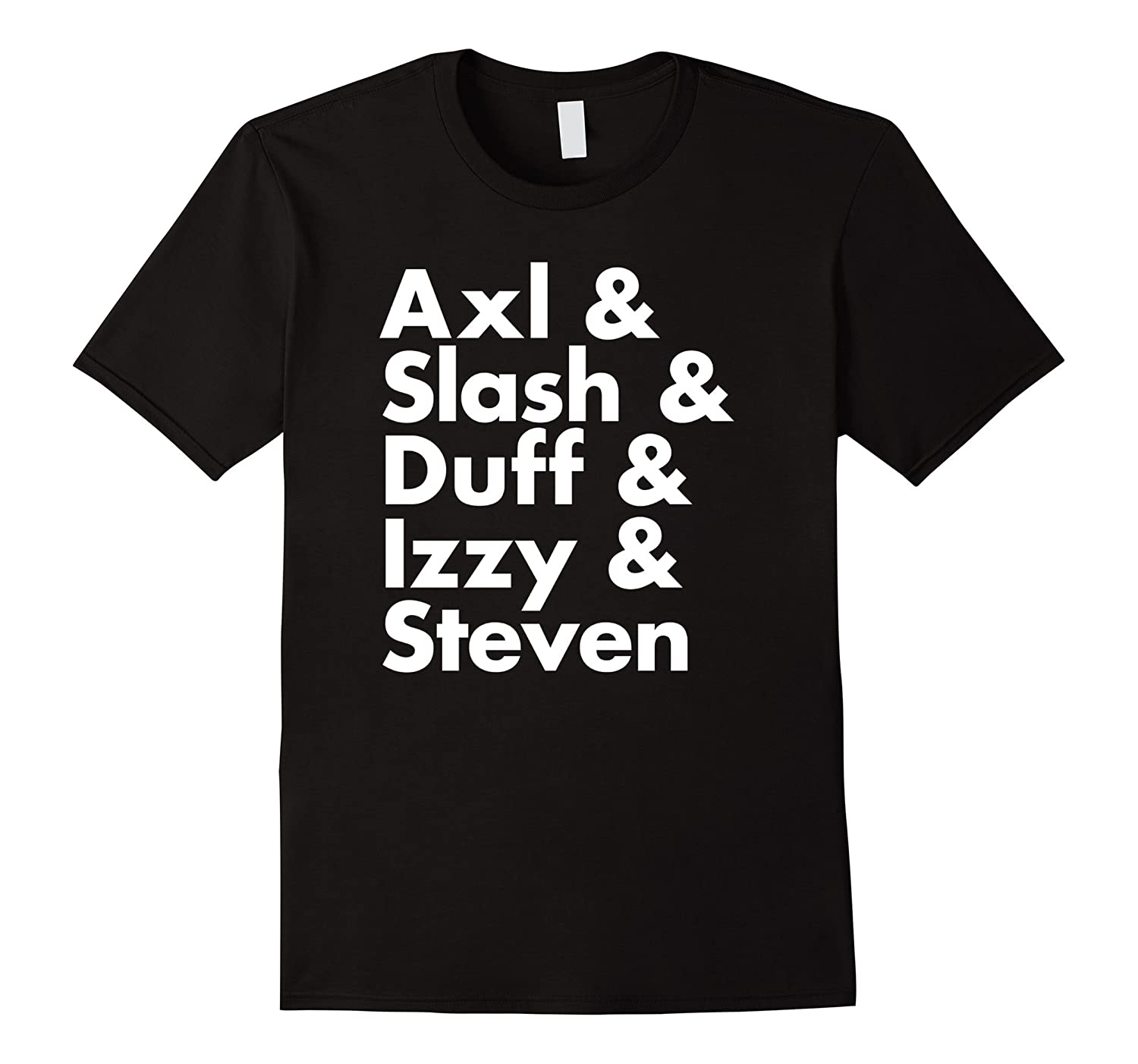Axl Slash Duff Izzy Steven Hard Rock Band Music T-Shirt