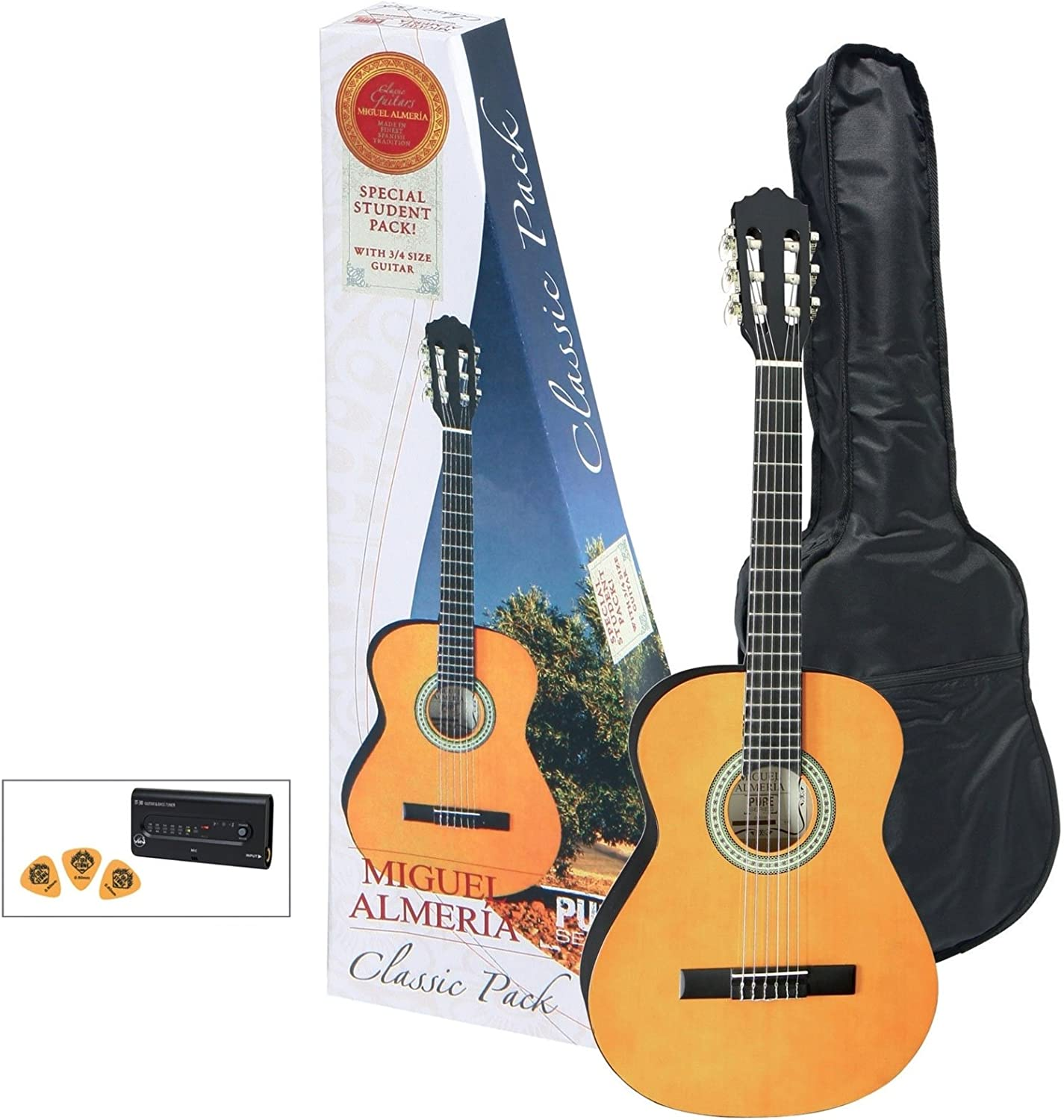 GEWA Pure Almeria Classic Pack 3/4 Honey: Amazon.es: Instrumentos musicales