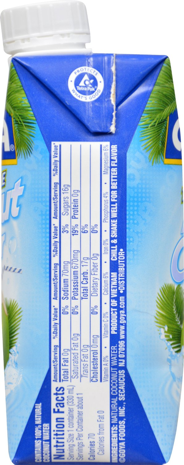Goya Foods Pure Coconut Water, 11.15 fl. oz. (Pack of 24)