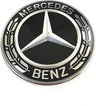 Emblem for hood MB star 57 mm spare badge Silver and Blue.